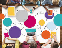 Diverse People Hands Team Busy Devices Concept Stock Images