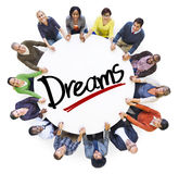 Diverse People Holding Hands Dream Concept Royalty Free Stock Photography