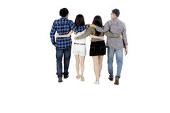 Diverse people hugging each other on studio Royalty Free Stock Photos