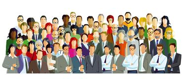 Diverse people illustration Stock Image