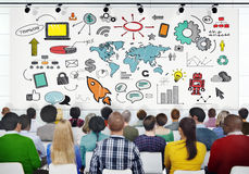 Diverse People Learning About Start Up Business Royalty Free Stock Photo