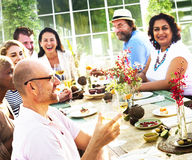 Diverse People Luncheon Food Summer Concept Royalty Free Stock Photography