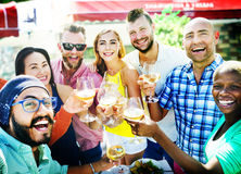 Diverse People Luncheon Outdoors Food Concept Royalty Free Stock Photos