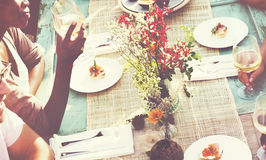 Diverse People Luncheon Outdoors Food Concept Royalty Free Stock Images