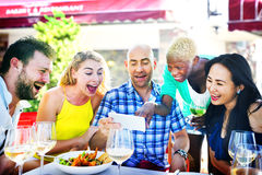 Diverse People Luncheon Outdoors Food Friendship Concept Stock Photography