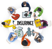 Diverse People in a Meeting About Insurance Stock Image