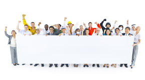 Diverse People With Occupations Celebrating.  Royalty Free Stock Photos