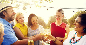 Diverse People Outdoors Hanging out Concept Stock Photos