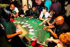 Free Diverse People Playing Blackjack Card Game At Casino Table Stock Photos - 183271923