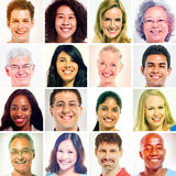 16 Diverse People in Sepia Shade Stock Images