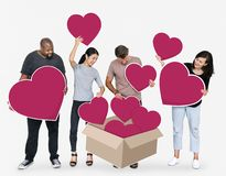 Diverse people sharing their loves royalty free stock photo