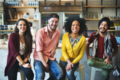 Diverse People Sitting Cheerful Friendship Concept Royalty Free Stock Images
