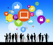 Diverse People with Social Media Concept Royalty Free Stock Image