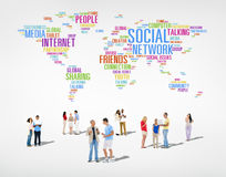 Diverse People with Social Network Concept Stock Images