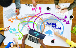 Diverse People and Social Networking Concepts.  Royalty Free Stock Photo