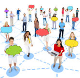 Diverse People and Social Networking Concepts Stock Photos