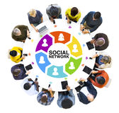 Diverse People and Social Networking Concepts Stock Photography