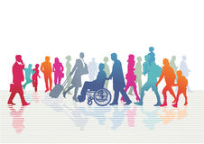 Diverse people on a street Royalty Free Stock Photo