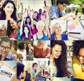 Diverse People Students Start Up Collage Concept Royalty Free Stock Images