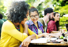 Diverse People Studying Students Campus Concept Stock Images