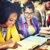 Diverse People Studying Students Campus Concept Royalty Free Stock Photos
