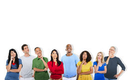 Diverse People Thinking and Copy Space Royalty Free Stock Photos