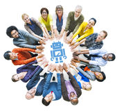 Diverse People with Togetherness and Technology Concepts Royalty Free Stock Image