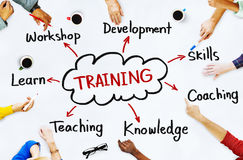 Diverse People and Training Concepts Royalty Free Stock Images