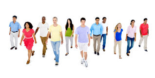 Diverse of People Walking Togetherness Stock Photography