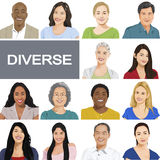 Diverse People on White Background Royalty Free Stock Image