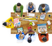 Diverse People Working in a Conference Royalty Free Stock Photos