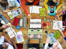 Diverse People Working Drawing and Illustration. Group of Diverse People Working Drawing Stock Images
