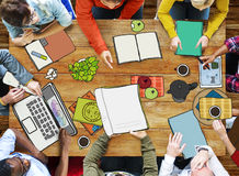 Diverse People Working Drawing and Illustration. Group of Diverse People Working Drawing and Illustration Royalty Free Stock Photos