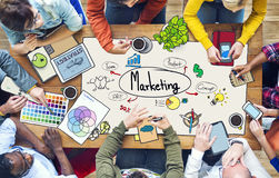 Diverse People Working and Marketing Concepts Stock Photo