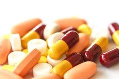 Diverse Pillen Stock Foto's