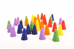 Diverse Population. Various coloured pawns representing different races Royalty Free Stock Photography
