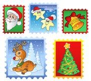Diverse postzegels 1 van Kerstmis Stock Foto's
