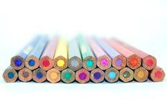 Diverse potlodenkleur Royalty-vrije Stock Afbeeldingen