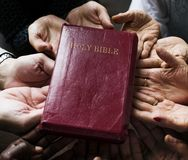 Diverse religious shoot. The Holy Bible Royalty Free Stock Image