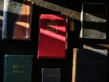 Diverse religious shoot. The Holy Bible Stock Photo