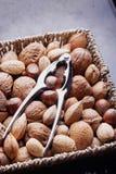Diverse sélection nuts Photos stock