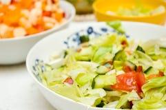 Diverse salades Stock Afbeelding