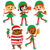 Diverse Santa Helpers Stock Photos