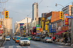 Diverse scenes of China town in Toronto,Canada Royalty Free Stock Image