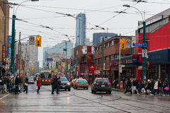 Diverse scenes of China town in Toronto,Canada Stock Photos