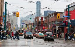 Diverse scenes of China town in Toronto,Canada Royalty Free Stock Images