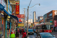 Diverse scenes of China town in Toronto,Canada Stock Photo