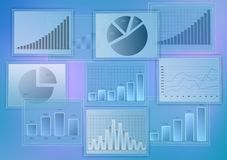 Diverse set of abstract business diagrams. growth Stock Image