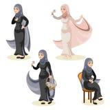 Diverse set of arab woman royalty free illustration