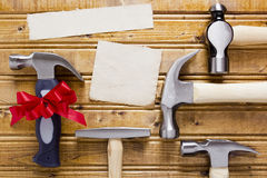 Diverse set of hammers Royalty Free Stock Photo